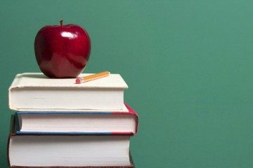 Apples-on-some-books-lessons