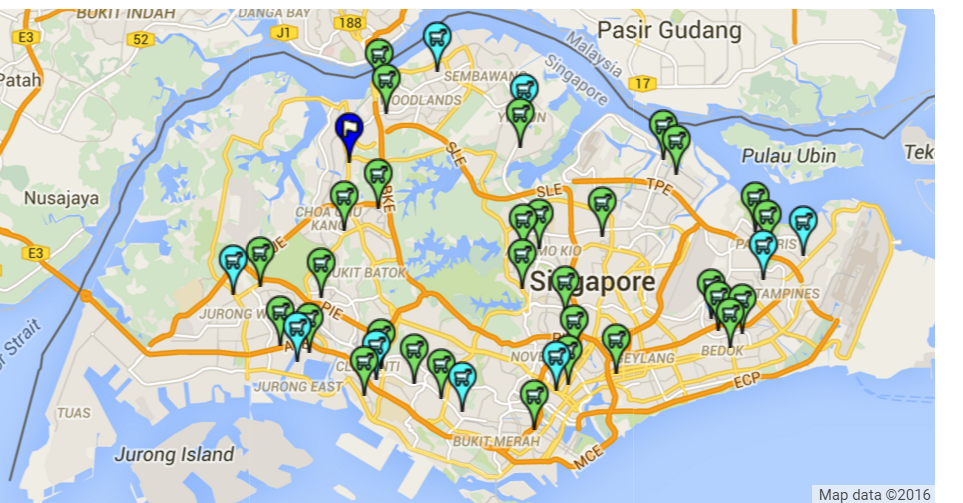 Source: Locations of Stores, Sheng Siong Group