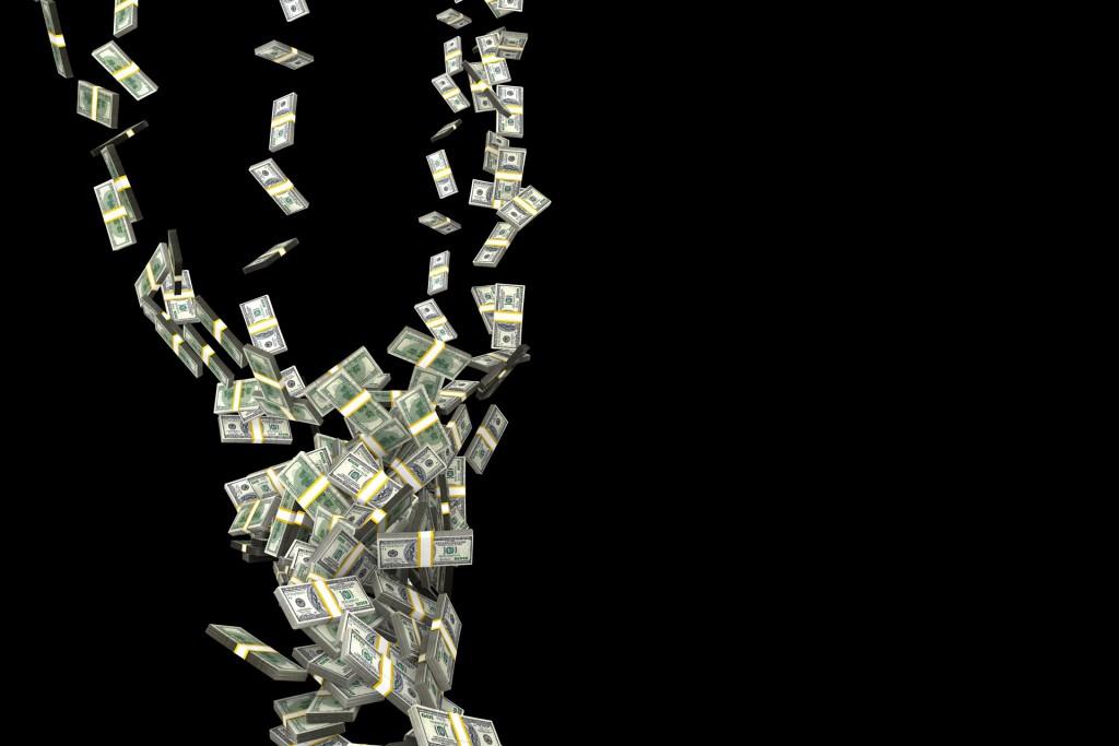 money fall