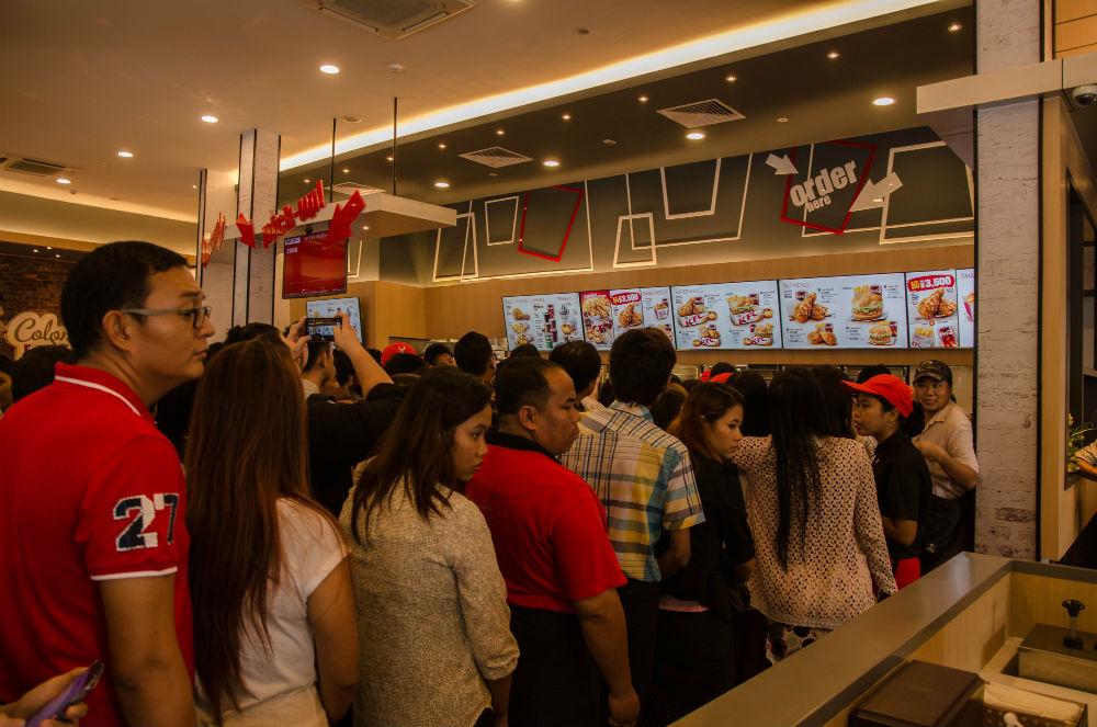 Source: KFC Yangon, Coconuts Yangon