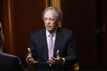 Bill Gross, co-founder of Pacific Investment Management Co. (PIMCO), speaks during a Bloomberg Television interview at the Bloomberg FI16 event in Beverly Hills, California, U.S., on Wednesday, May 25, 2016. Gross, who built a career and a $1.9 billion personal fortune trading bonds, is trying to go short on credit, a position that he said runs contrary to his instincts and training as an investor. Photographer: Patrick T. Fallon/Bloomberg