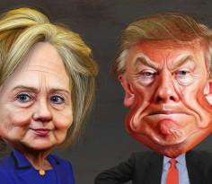 clinton_trump_caricature