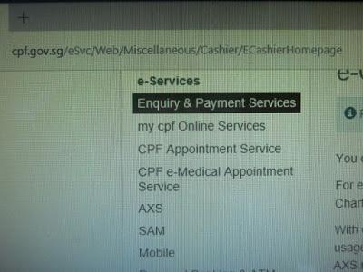 Go to CPF e-Cashier homepage.