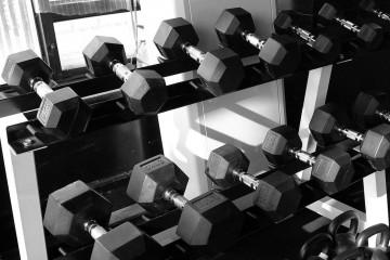 gym dumb bells
