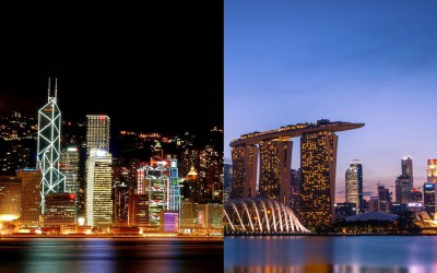 sg hk night view