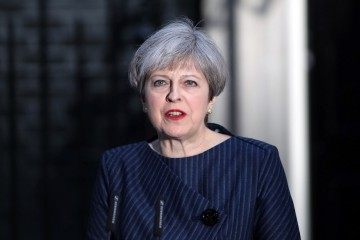 Theresa May, U.K. prime minister, announces a general election outside 10 Downing Street in London, U.K., on Tuesday, April 18, 2017. May said she will seek an early election on June 8, in an unexpected gamble aimed at strengthening her hand going into talks on leaving the European Union. Photographer: Chris Ratcliffe/Bloomberg
